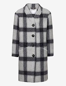 G Amara Coat - ull-klær - check
