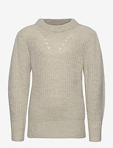 G Silvia Sleeve Knit - strikkevarer - light grey melange