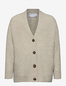 G Silvia Cardigan - cardigans - light grey melange