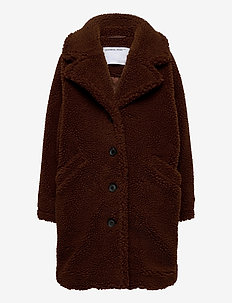 G Faro Coat - faux fur - brown