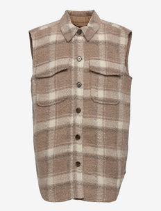 G Jayden Shirt Vest - uldtøj - check