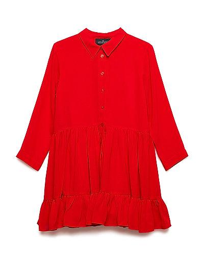 LR Lea Ruffle Dress - LIPSTICK RED