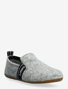 slipper felt LK lettering - pantoufles - mist