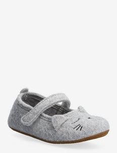 ballerina sleeping kitten - pantoufles - light grey