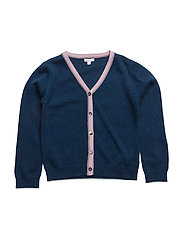 deep v cardigan - NAVY/ SLEEPING CUTIE