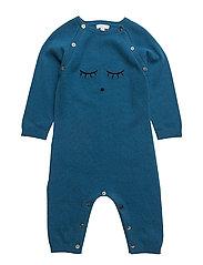cashmere onesie - NAVY/ SLEEPING CUTIE