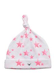 tossie hat - HOT PINK STARS