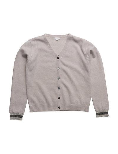 v-neck cashmere cardigan - CREAM/ SLEEPING CUTIE