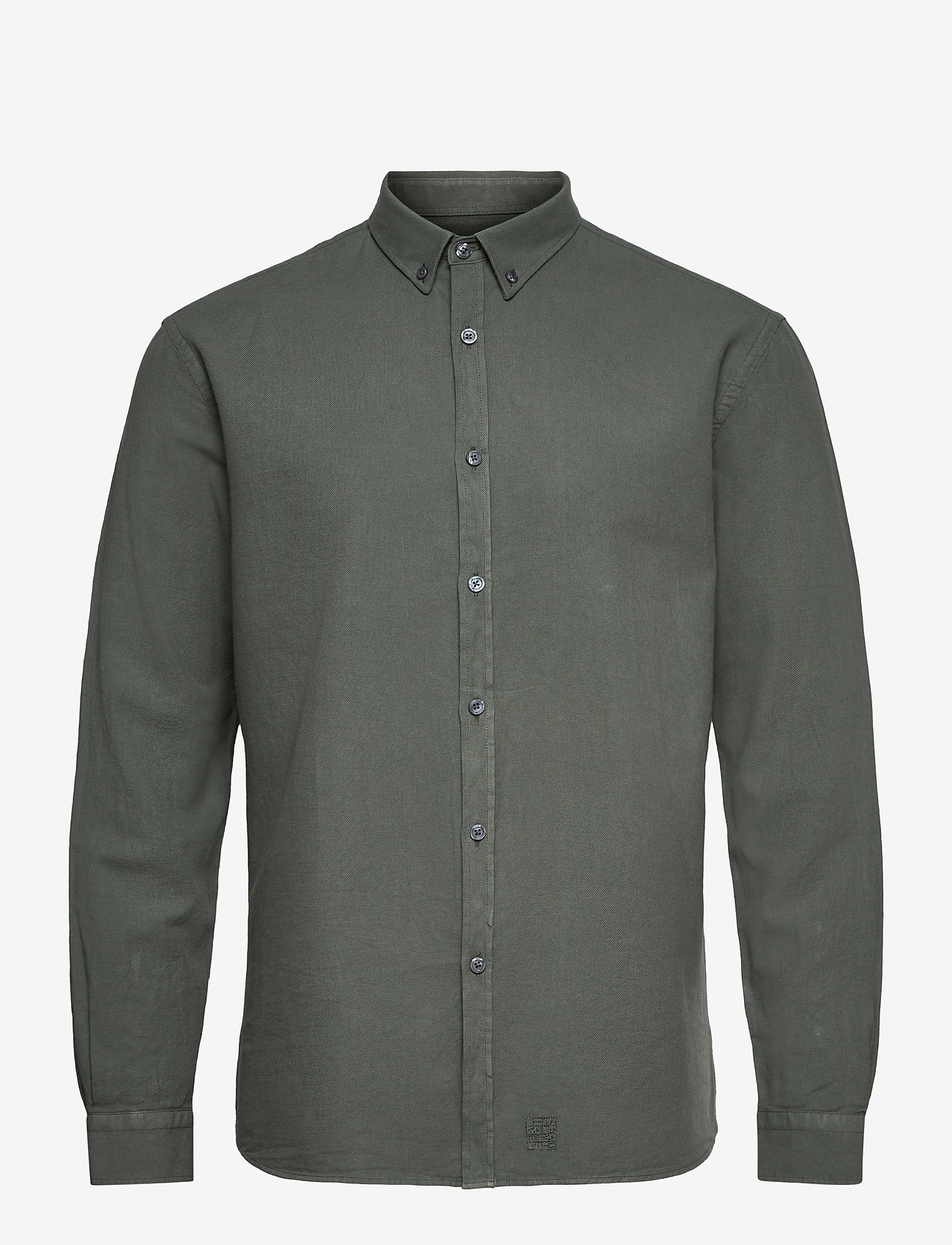 LJUNG by Marcus Larsson - Washed Twill Shirt - geruite overhemden - hedge green - 1