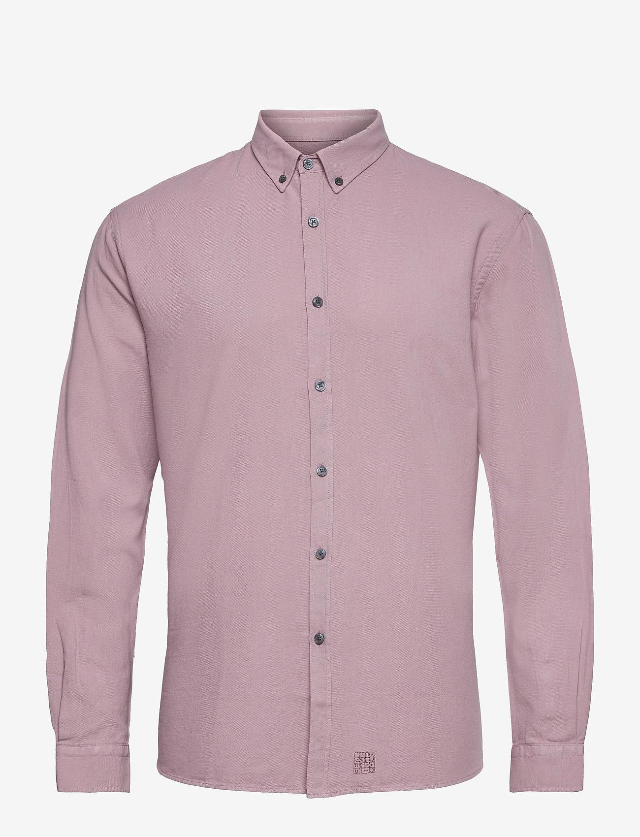 LJUNG by Marcus Larsson - Washed Twill Shirt - chemises de lin - mauve purple - 1