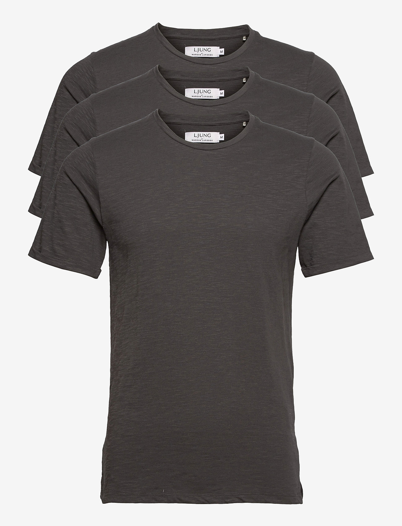 LJUNG by Marcus Larsson - Coretee 3-pack - basic t-shirts - dk ash grey - 0