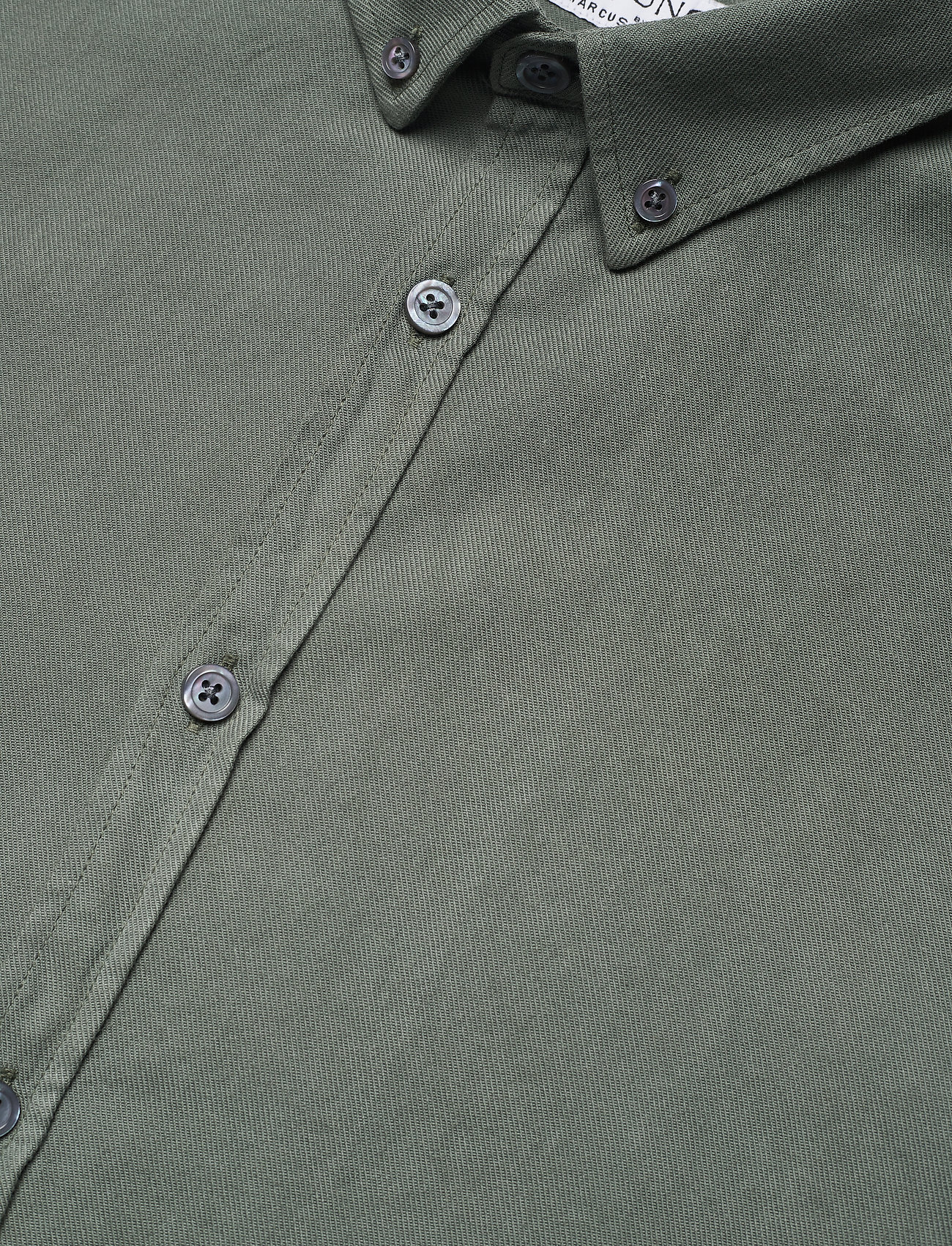 LJUNG by Marcus Larsson - Washed Twill Shirt - geruite overhemden - hedge green - 6