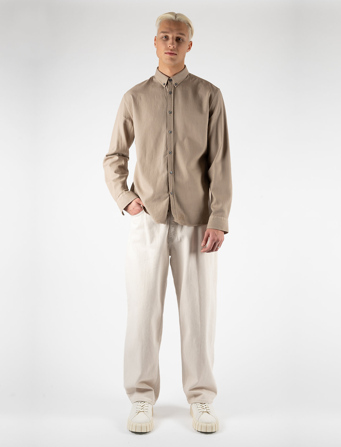 LJUNG by Marcus Larsson - Washed Twill Shirt - chemises à carreaux - sand - 4