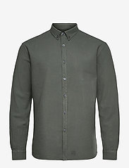 Washed Twill Shirt - HEDGE GREEN