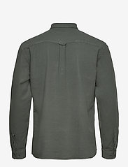 LJUNG by Marcus Larsson - Washed Twill Shirt - geruite overhemden - hedge green - 2