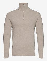 Half Zip Sweater - NATURE MEL