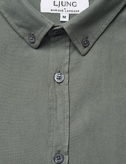 LJUNG by Marcus Larsson - Washed Twill Shirt - geruite overhemden - hedge green - 5
