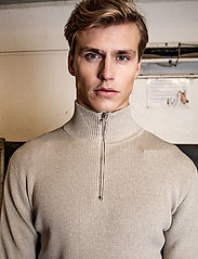 LJUNG by Marcus Larsson - Half Zip Sweater - half zip - nature mel - 0