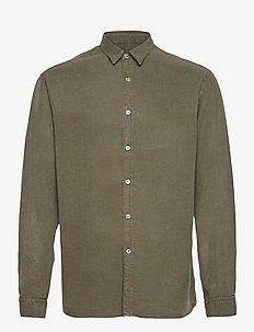 Washed Tencel Shirt - chemises à carreaux - beetle green