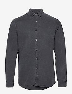 Washed Tencel Shirt - chemises à carreaux - iron grey
