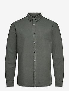 Washed Twill Shirt - chemises à carreaux - hedge green