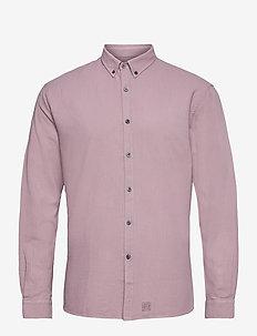 Washed Twill Shirt - chemises à carreaux - mauve purple