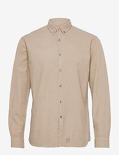 Washed Twill Shirt - chemises à carreaux - sand