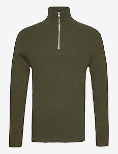 Half Zip Sweater - pulls demi-zip - forest green