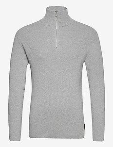 Half Zip Sweater - pulls demi-zip - lt grey mel