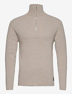 Half Zip Sweater - pulls demi-zip - nature mel