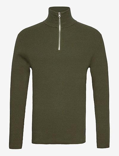 Half Zip Sweater - truien met halve rits - forest green