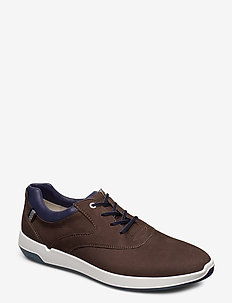 BARKER - lave sneakers - 2 - chocolate/new ocean