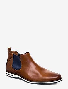 DILLON - chelsea boots - 1 - cognac/pacific