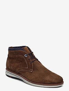 MAXWELL - veter schoenen - 2 - cigar/blau