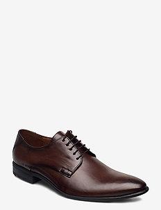 NIK - buty ze skóry lakierowanej - 5 - dark brown
