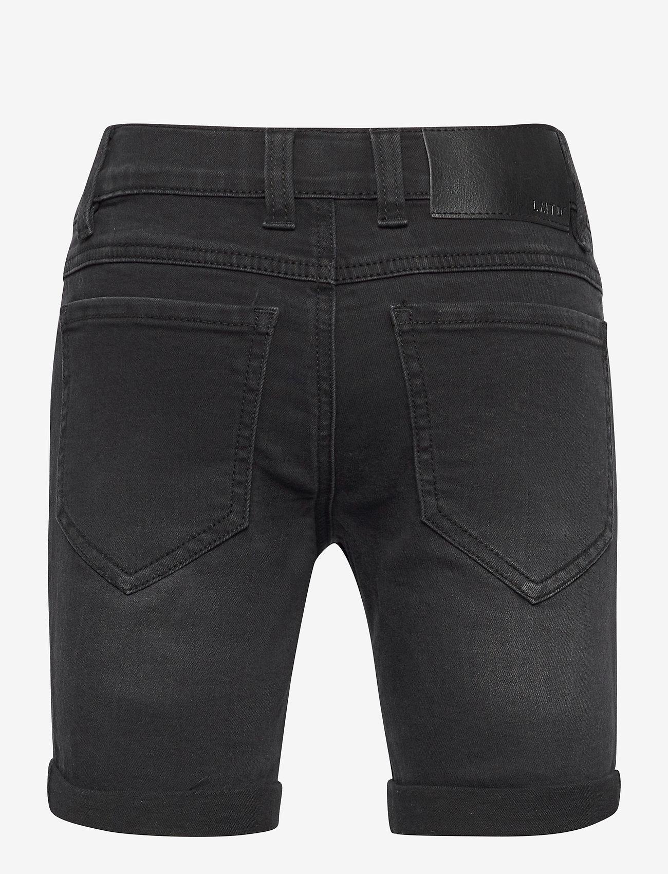 LMTD - NLMSHAUN DNMBATONSONS LONG SHORTS NOOS - shorts - black denim - 1