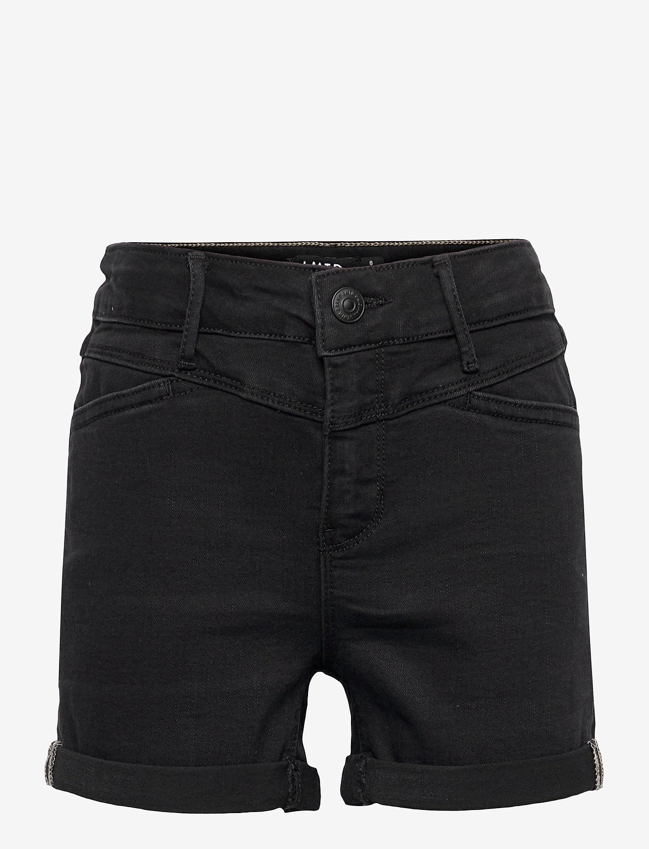 LMTD - NLFRAVEN DNMBATECES 7445 HW SHORTS NOOS - shorts - black denim - 0