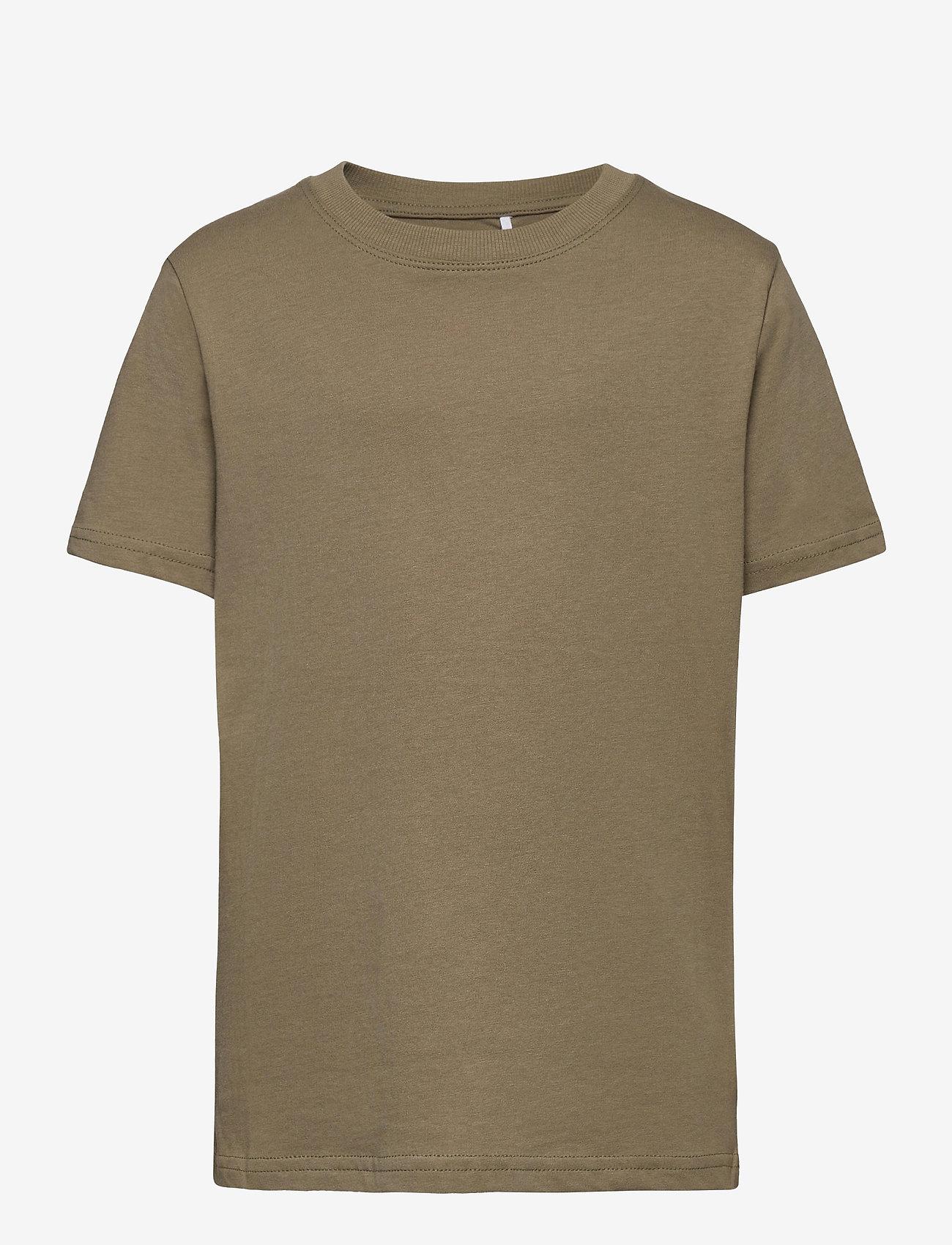 LMTD - NLMTERKEL SS R TOP - t-shirts - deep lichen green - 0