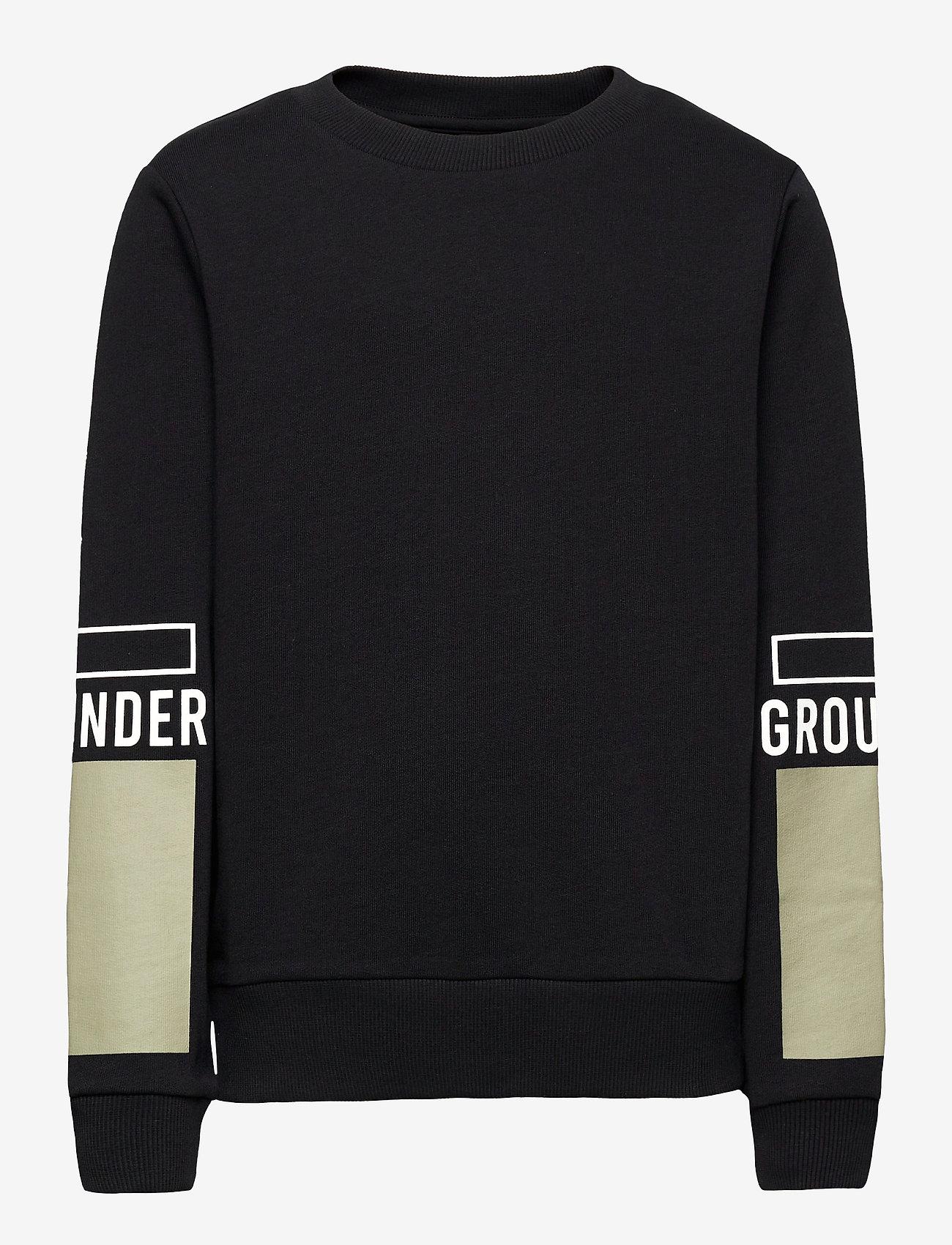 LMTD - NLMTHEIS LS SWEAT - sweatshirts - black - 0