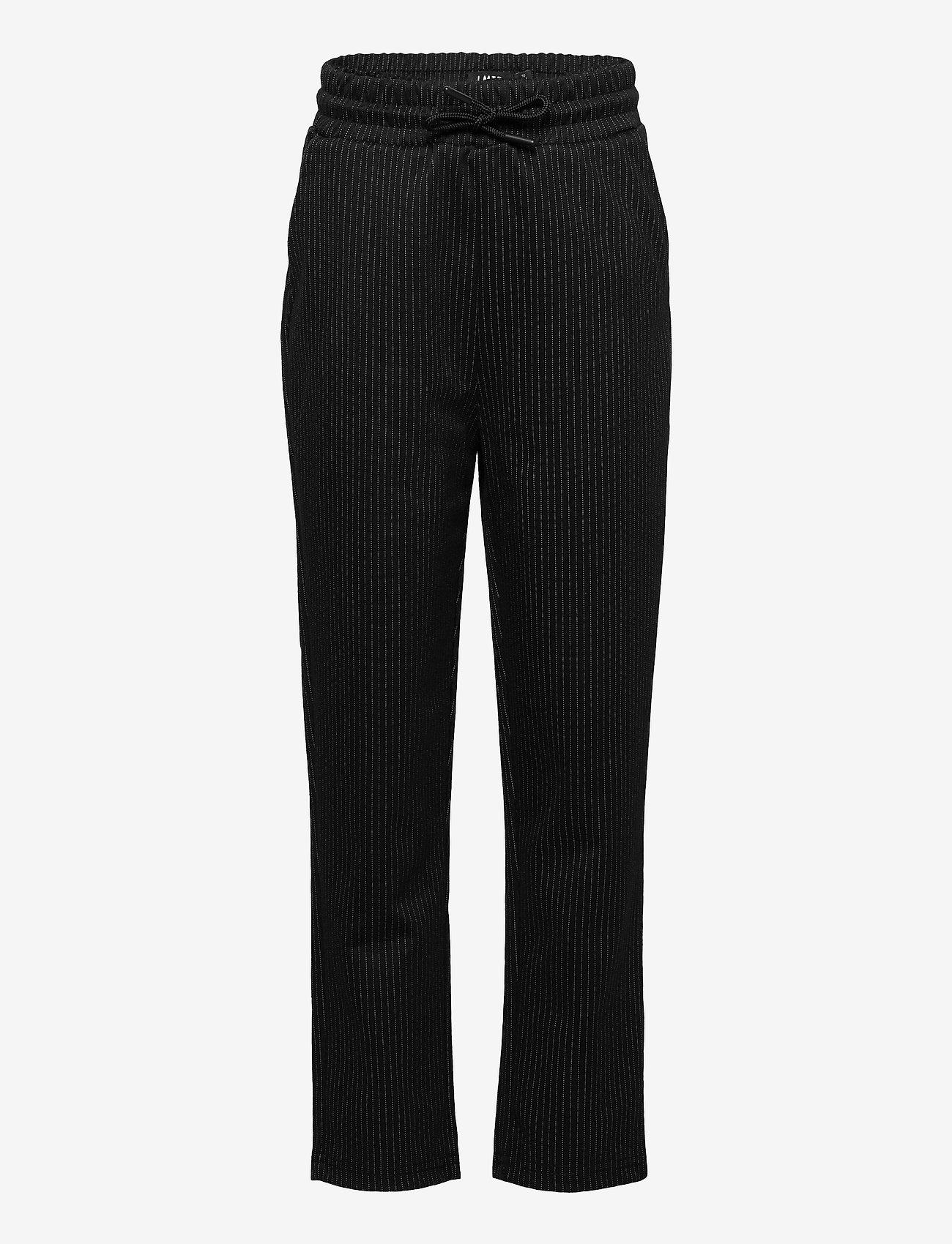 LMTD - NLMTEO REG PANT - trousers - black - 0