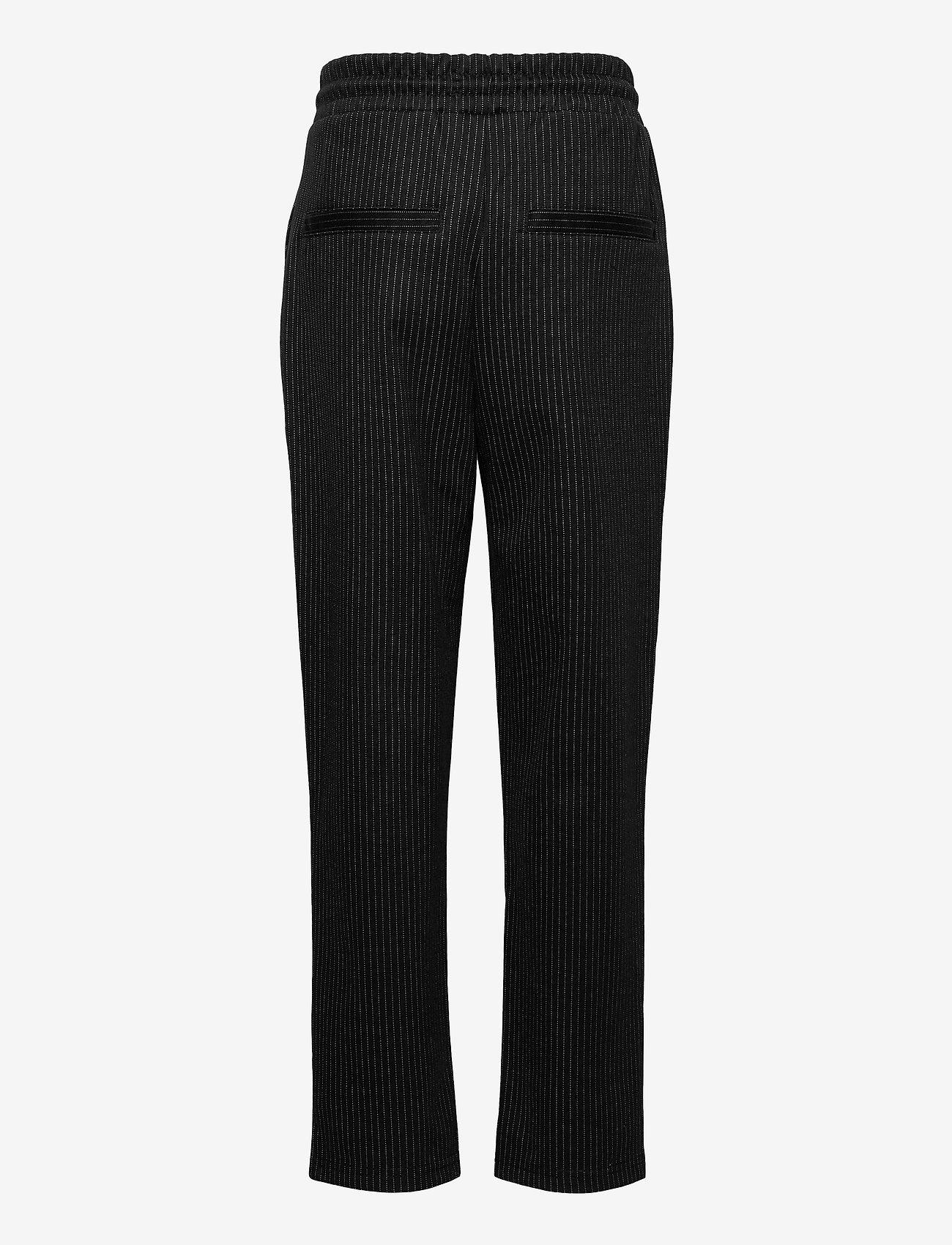 LMTD - NLMTEO REG PANT - trousers - black - 1