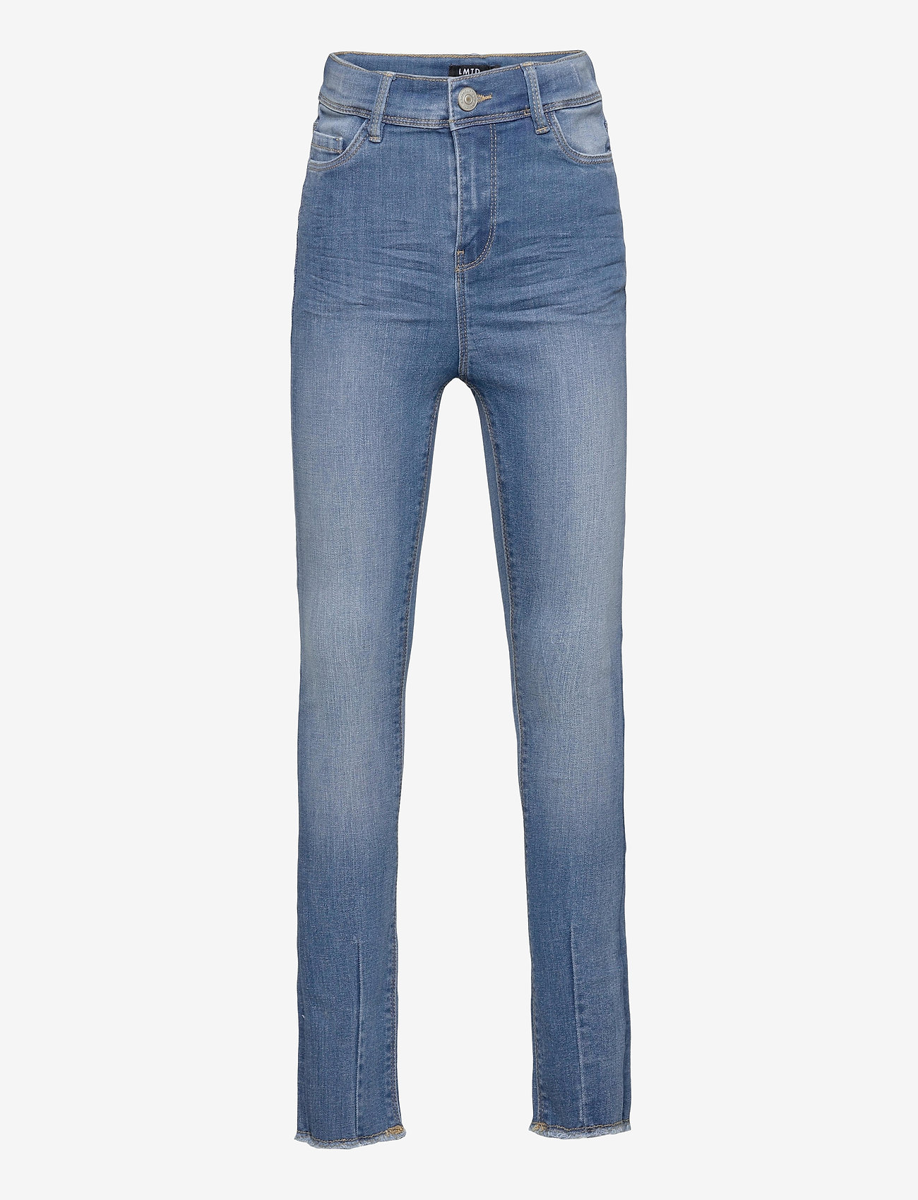 LMTD - NLFPIL DNMBATEJAS 2455 HW ANCLE PANT - jeans - medium blue denim - 0