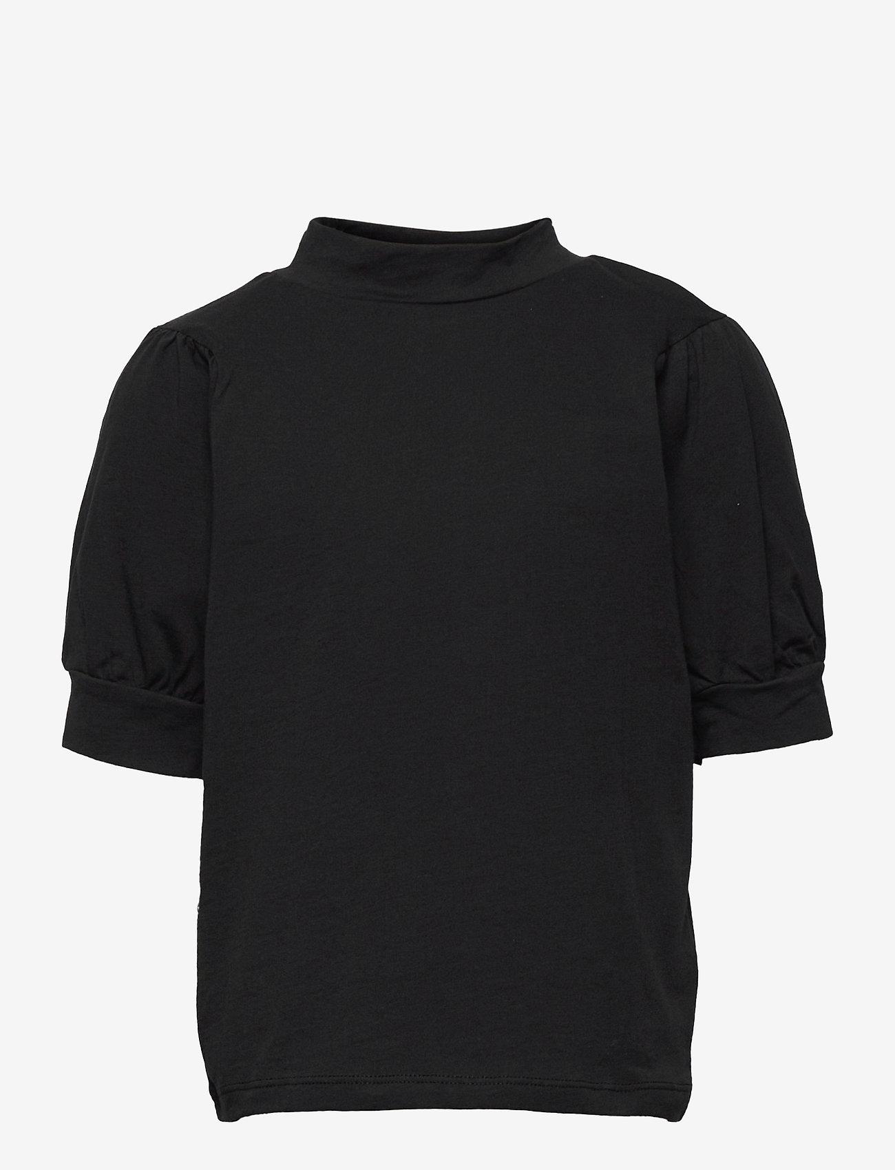 LMTD - NLFFUFF BALLON SHORT TOP - t-shirts - black - 0