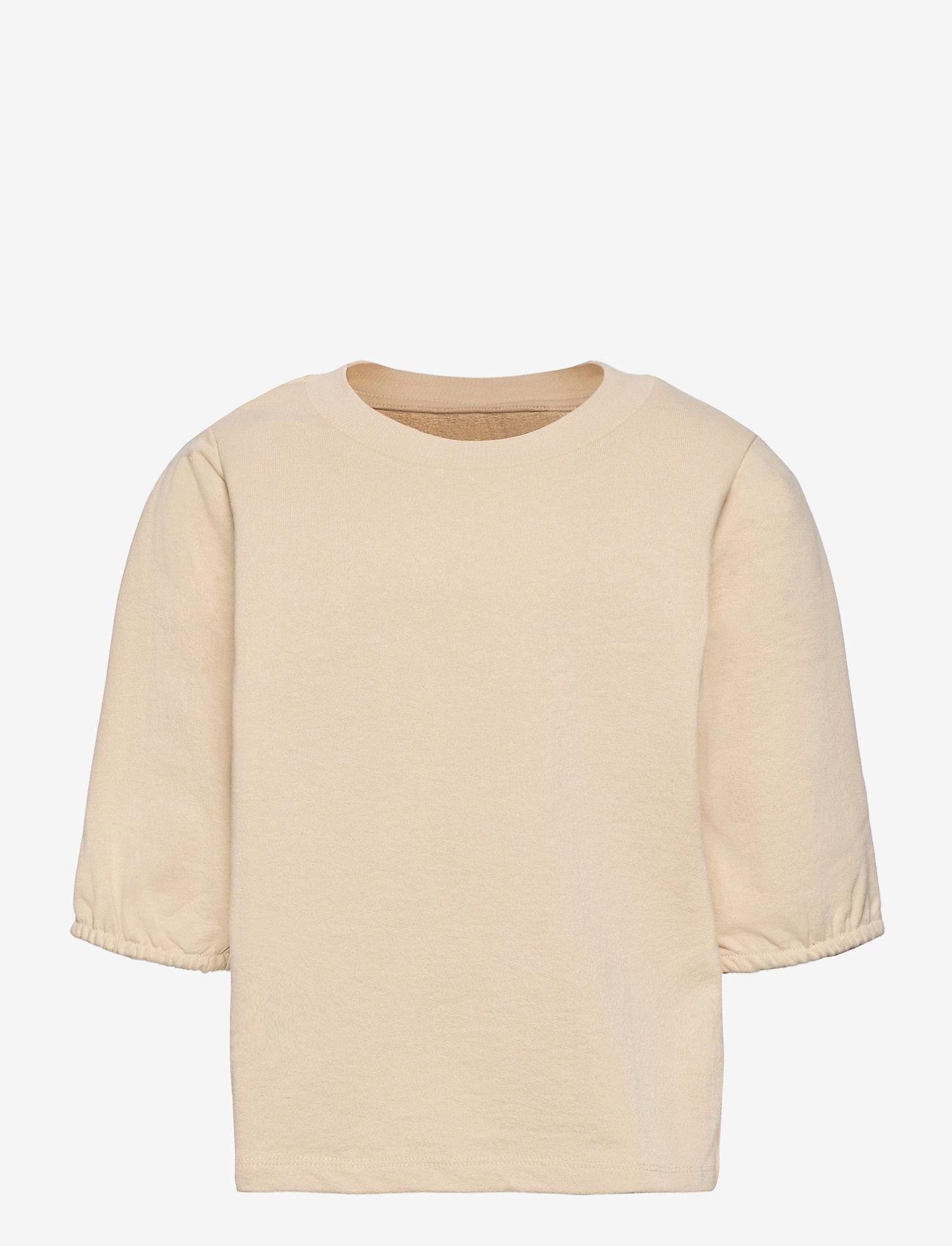 LMTD - NLFHALLON SS SHORT SWEAT - sweatshirts - creme brle - 0