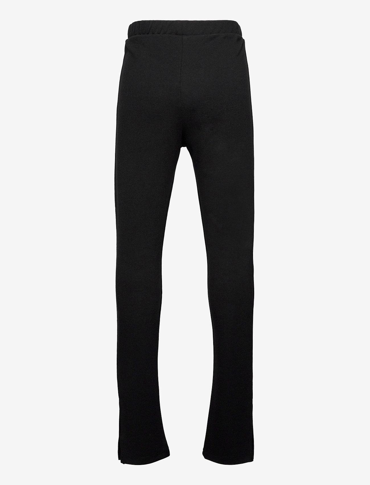 LMTD - NLFDONNA SLIT PANT - jogginghosen - black - 1