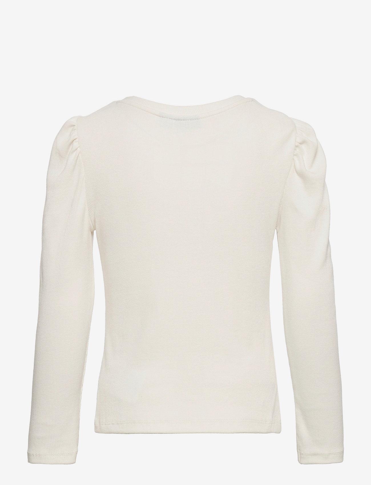 LMTD - NLFBIDA  LS SHORT S PUFF TOP - langärmelige - white alyssum - 1