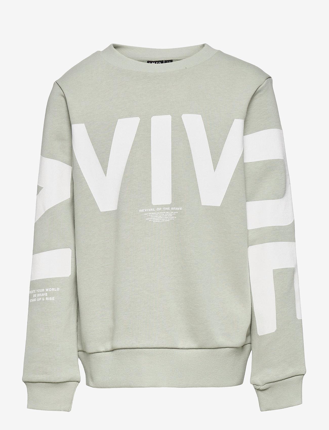 LMTD - NLMDEVIVAL LS SWEAT BOX - sweatshirts - mercury - 0
