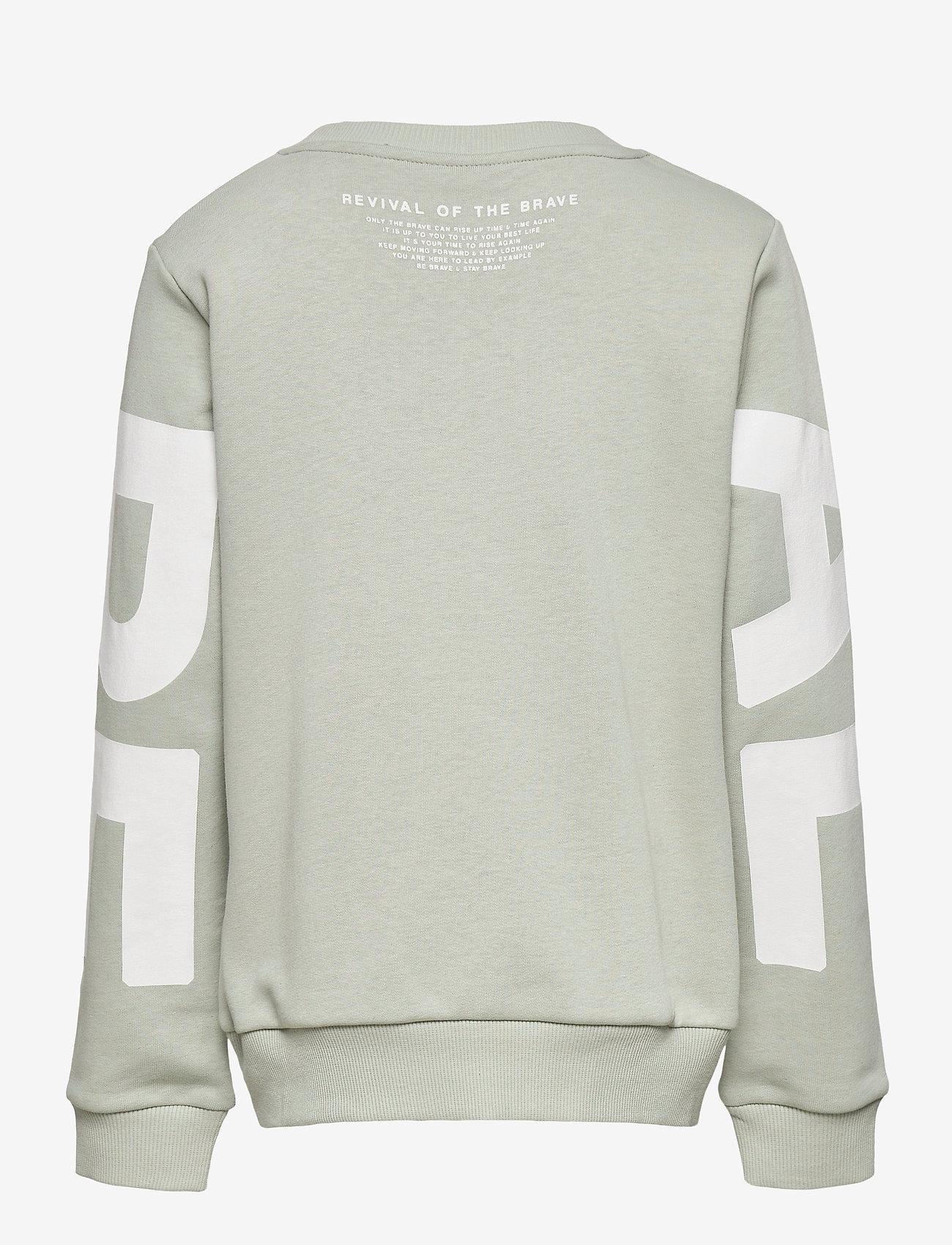 LMTD - NLMDEVIVAL LS SWEAT BOX - sweatshirts - mercury - 1