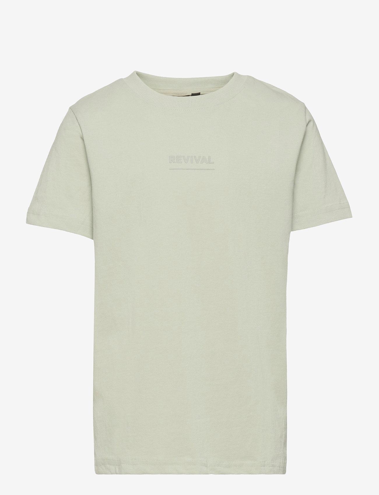 LMTD - NLMVICTORFLOR SS R TOP BOX - t-shirts - mercury - 0