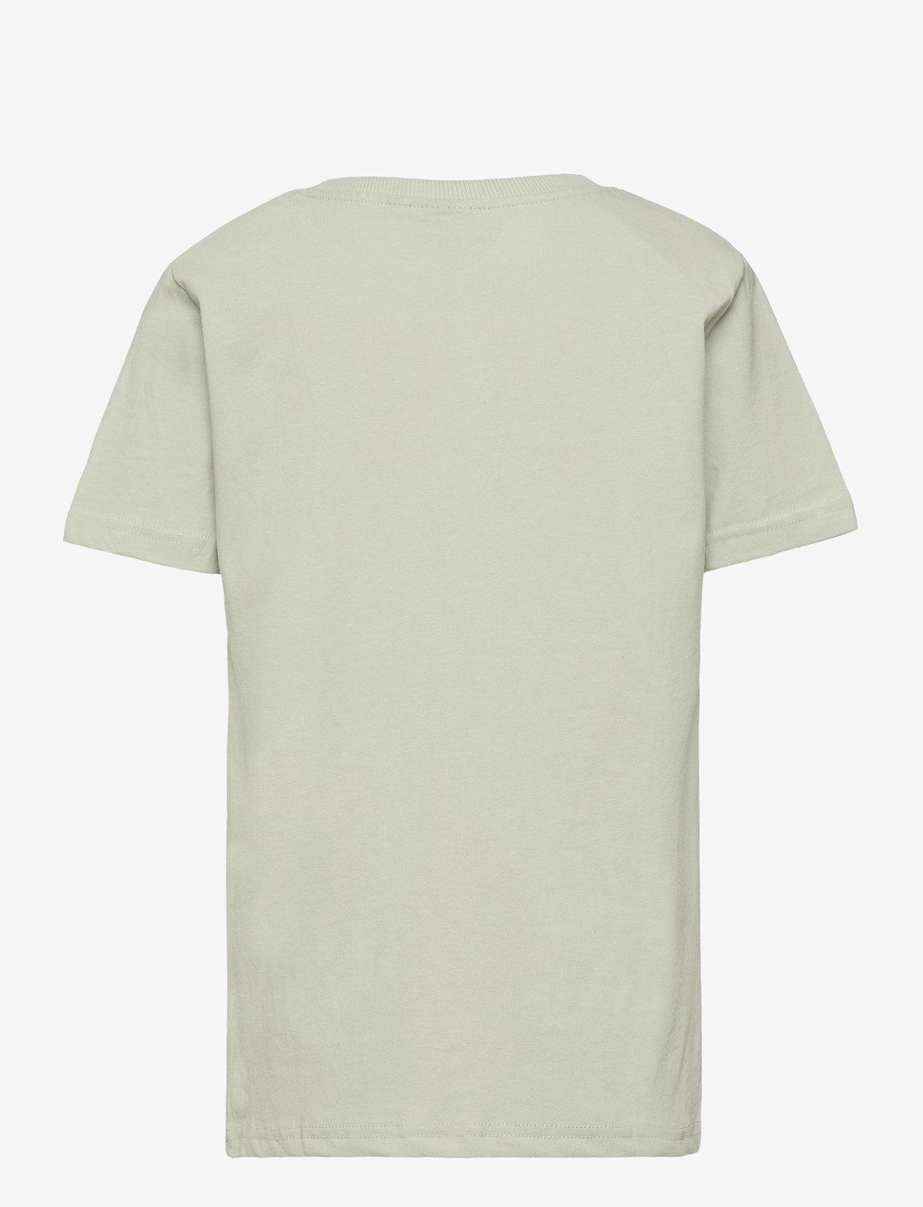 LMTD - NLMVICTORFLOR SS R TOP BOX - t-shirts - mercury - 1